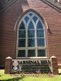 El socio de la colina del arsenal reformó la iglesia presbiteriana situada en Columbia, SC Imagenes de archivo