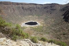 El Sod crater lake, Ethiopia. The local people get salt from this lake royalty free stock photography