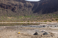 El Sod crater lake Ethiopia Royalty Free Stock Photo