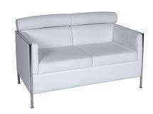 El sofá blanco dos se sienta para el resto Foto de archivo