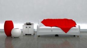 El sofá contemporáneo adentro moderen la configuración Foto de archivo