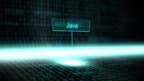 El software del paisaje de Digitaces definió tipografía con el código binario futurista - Java stock de ilustración