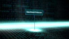 El software del paisaje de Digitaces definió tipografía con el código binario futurista - protección de la rama de los datos ilustración del vector