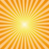 El sol abstracto de la explosión del fondo del vintage irradia vector