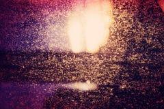 Ventana manchada iluminación trasera de Sun de la tarde Imagen de archivo libre de regalías