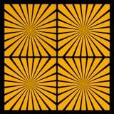 El sol anaranjado irradia efecto sobre negro Foto de archivo libre de regalías