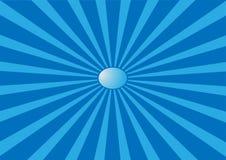 El sol azul marino abstracto Imagen de archivo