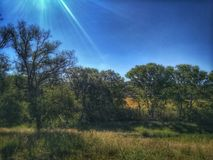 El sol brilla imagen de archivo libre de regalías