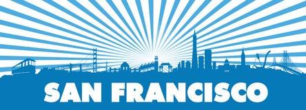 El sol de San Francisco Blue irradia la silueta Fotografía de archivo libre de regalías
