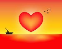 El sol del amor ilustración del vector