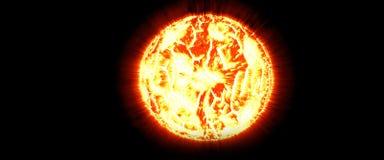 El sol el gigante rojo la fuente de energía principal en la tierra Imagenes de archivo