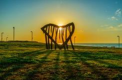 El sol en corazón Fotos de archivo libres de regalías