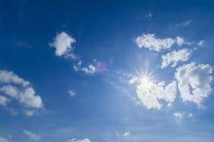 El sol en la luz del día Imagen de archivo libre de regalías