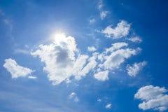 El sol en la luz del día Fotografía de archivo libre de regalías