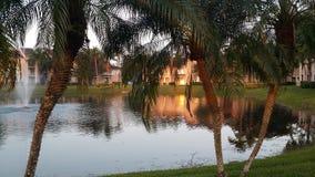 El sol en el lago foto de archivo libre de regalías