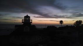 El sol ha fijado Imagen de archivo libre de regalías