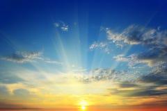 El sol sobre el horizonte Imagen de archivo libre de regalías