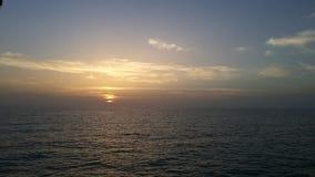 El sol sobre el mar Fotografía de archivo libre de regalías