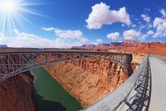 El sol sobre el río Colorado Imagen de archivo libre de regalías