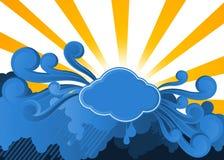 El sol sobre las nubes stock de ilustración