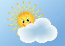 El sol y la nube. Fotografía de archivo libre de regalías