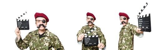 El soldado divertido en concepto militar fotos de archivo libres de regalías