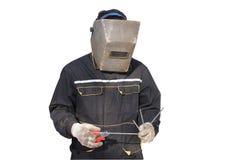 El soldador Foto de archivo