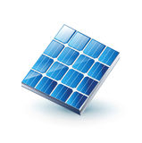 El solo panel solar aislado en blanco ilustración del vector