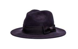 El sombrero de las mujeres en el fondo blanco Fotos de archivo