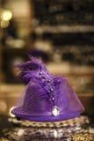 El sombrero de las señoras elegantes fotografía de archivo