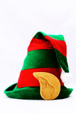 El sombrero del duende en blanco Foto de archivo libre de regalías