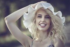 El sombrero del verano Fotos de archivo