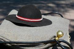 El sombrero tradicional de montañeses polacos imágenes de archivo libres de regalías