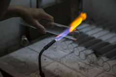 El soplar de cristal Fotografía de archivo libre de regalías