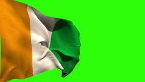 El soplar grande de la bandera nacional de Costa de Marfil ilustración del vector