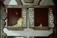 El soplar hacia fuera flamea en fuego de la casa ilustración del vector