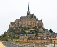 El soporte de San Miguel en el invierno medio Normandía, Francia Imagen de archivo libre de regalías