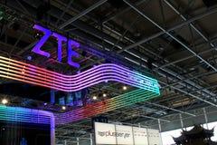 El soporte de ZTE el 20 de marzo Foto de archivo