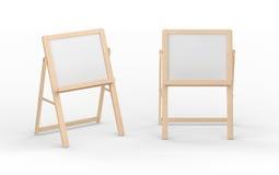 El soporte en blanco del whiteboard con el marco de madera, trayectoria de recortes incluye Imagenes de archivo