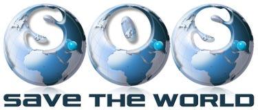 El SOS salva el mundo Imagen de archivo