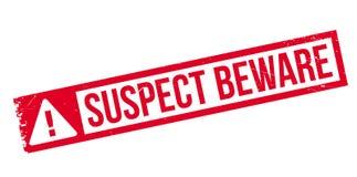 El sospechoso se guarda del sello de goma Fotografía de archivo