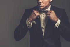 El sostenido vistió el traje que llevaba del fashionist imagenes de archivo