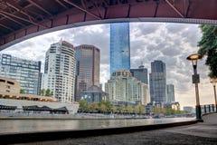 El southbank de la Melbourne CBD Fotos de archivo libres de regalías