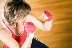 El Sparring de los artes marciales Foto de archivo