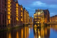 El Speicherstadt viejo en Hamburgo foto de archivo libre de regalías