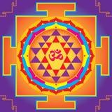 El Sri Yantra. Foto de archivo libre de regalías