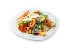 El srimp delicioso de la ensalada Imagen de archivo libre de regalías