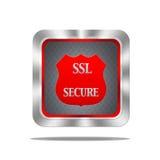 El SSL asegura el botón. Imagen de archivo libre de regalías