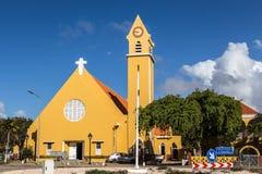 El St Bernard Church, una iglesia católica romana en Kralendijk fotos de archivo libres de regalías