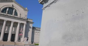 El St Louis Art Museum en Forest Park almacen de video